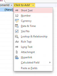 how to create tables from data dictionary in access