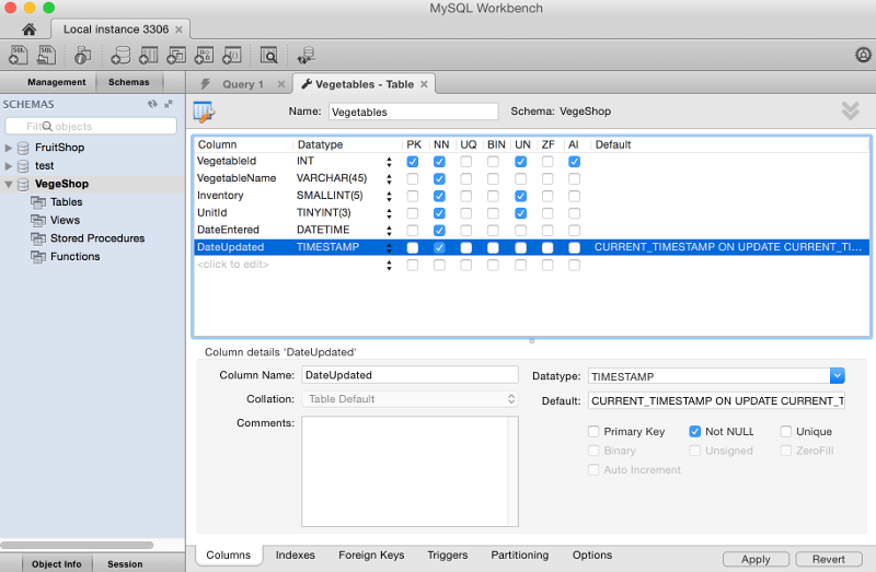 How to Create a Table in MySQL Workbench using the GUI | Database.Guide