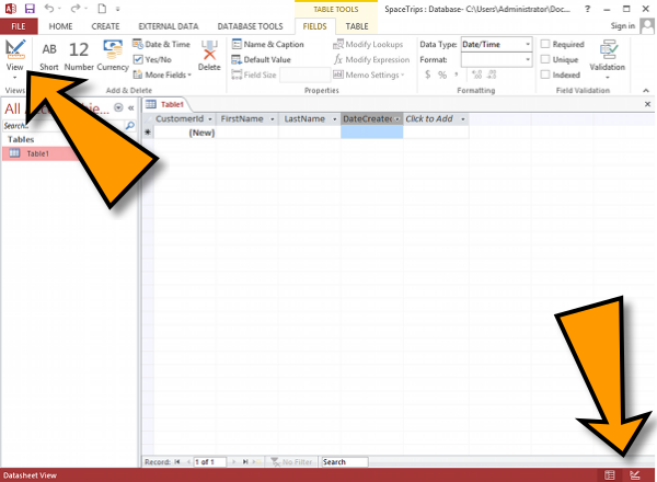 Microsoft Access Tutorial (Part 2): Design View, Field