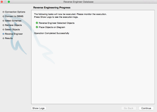 The Reverse Engineering Progress screen