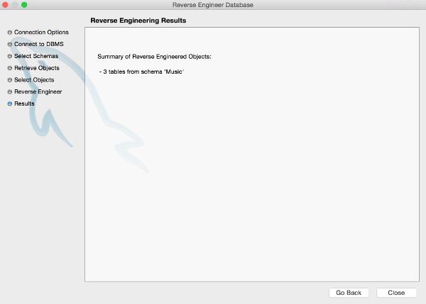 Screenshot of the Summary screen