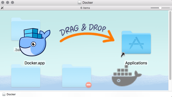 Screenshot of the Docker installation.